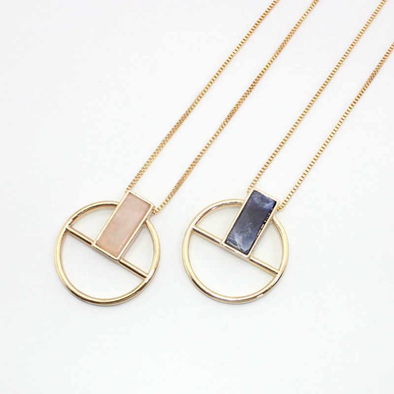Модные Мода прямоугольный Натуральный камень геометрический Цепочки и ожерелья