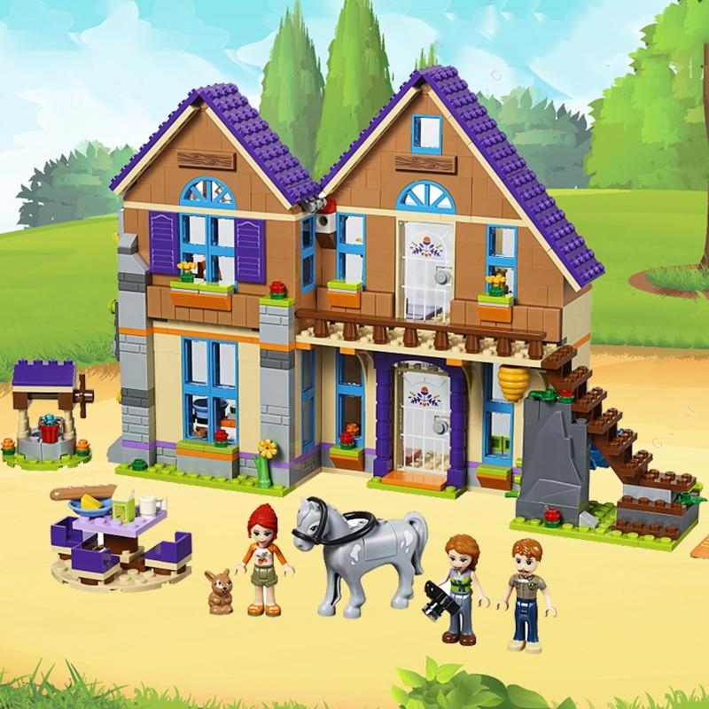 Heartlake City Girl The Mia's Villa Cottage Friendship Tree House Compatible Legoness Friends Building Blocks Brick Children Toy