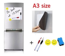 A3 Size Magnetic Whiteboard Fridge Marker Magnets Eraser 297x420mm Home Kitchen Message Boards Writing Pad Dry Eraser Sticker