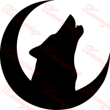 Howling Wolf Car Decal, Vinyl, Drift Sticker, Funny, JDM, VAG Moon