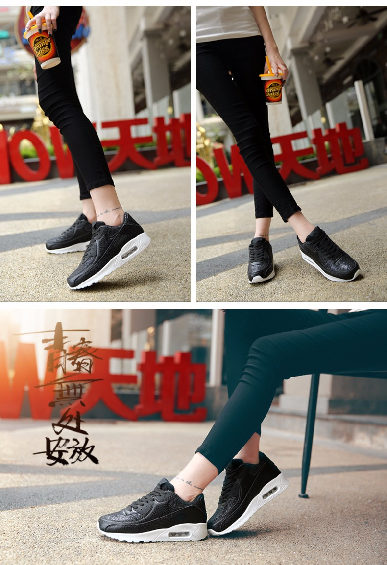 Fashion KUYUPP Wedges Women Trainers Breathable Sport Sequined Cloth Casual Shoes Outdoor Walking Shoes Zapatillas Mujer YD36 (12)