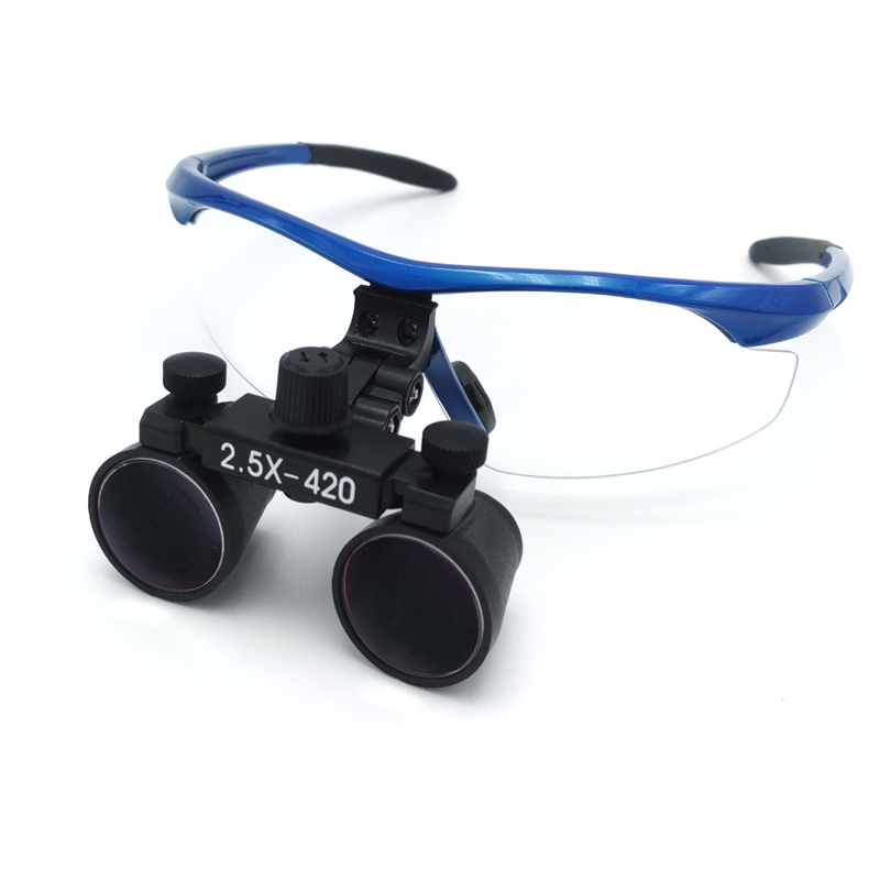 Good Quality 2.5X multiple surgical loupe adjustable eye distance promotional price optical Galileo glasses dental magnifier multiple investment horizons and stock price dynamics
