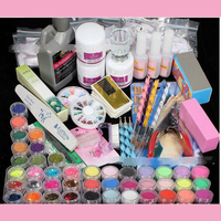 New Manicure Tool Kit Professional Acrylic Glitter Color Powder French Nail Art Deco Tips Set Nail Art Set