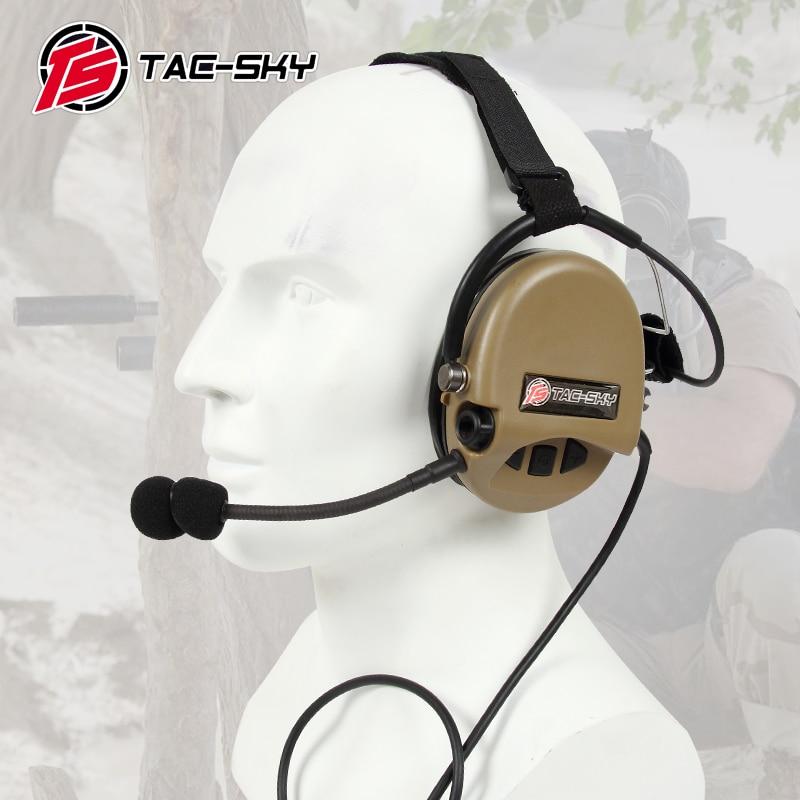 TAC-SKY TCI LIBERATOR II SORDIN Silicone Earmuff Version Noise Reduction Pickup Headset-DE