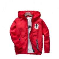 Cartoon Windbreaker Kids Boys Autumn Jacket Toddler Boy Blazer Children Hooded Sport Jacket Boy Football Outerwear