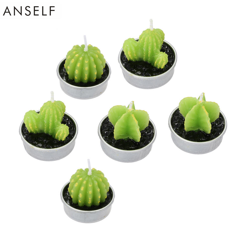 Pcs set artificial green plants candle decoration