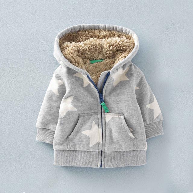 Babyboys outwear zipper uniforme roupa dos miúdos do esporte pano crianças ny jaqueta hoodies bonito casaco de inverno infantil para crianças estrela