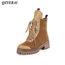 QZYERAI Winter super warm lady Martin boots comfortable snow boots fashion womens shoes womens boots