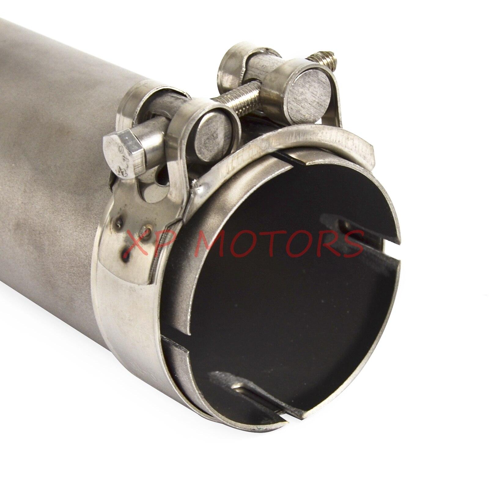 Для bwm 09-16 S1000RR S1000R 14-16 и все 61мм скольжения на тип глушители из нержавеющей стали глушитель выхлопных труб средний быстрая доставка