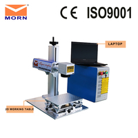 2 years warranty portable fiber laser metal marking machine 20 watt laser source + free laptop EZAD software