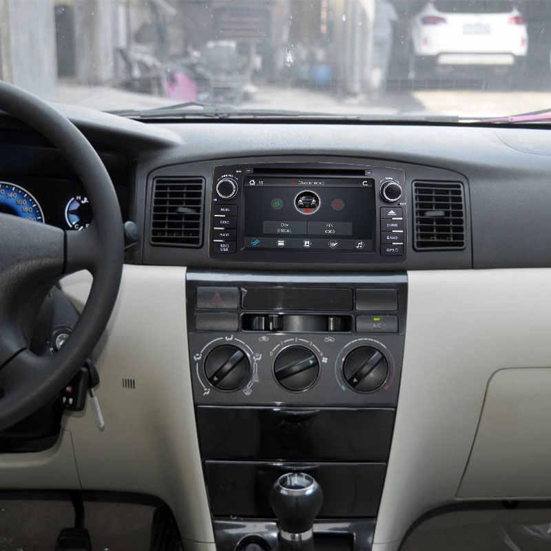 Josmile 2 2 ディンカー Dvd プレーヤートヨタカローラ E120 BYD F3 2000 2005 2006 ラジオマルチメディアヘッドユニットステレオ GPSNavigation オーディオ