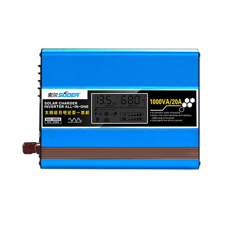 Solar Charger Inverter All in one 12V to 220V 500W / 1000W/ 1500W Home Charging Inverters Built in Controller