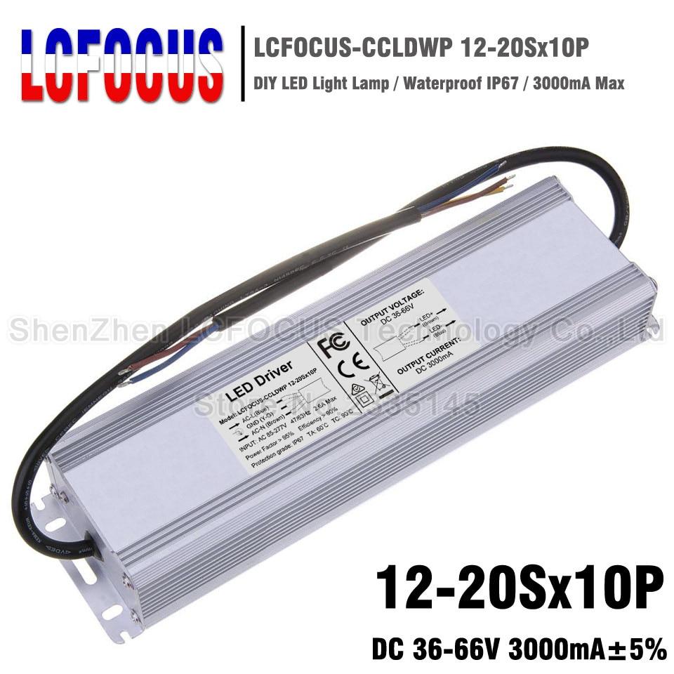 120 W 140 W 150 W 160 W 180 W 200 W LED Driver 12-20Sx10P transformateurs d'éclairage alimentation étanche 6000mA 18-34 V 3A pour lampe à LED