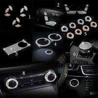 car styling RHINESTONES DIAMAND Shining Zinc Alloy Cover Sticker fit for Benz B C E GLK GL ML Class GLS Accessories