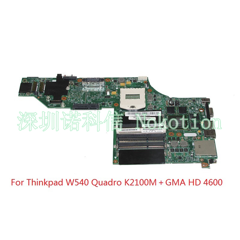 NOKOTION Laptop Motherboard For Lenovo Thinkpad W540 LKM-1 WS MB 48.4LO13.021 FRU 04X5293 Quadro K2100M Video card Main board image