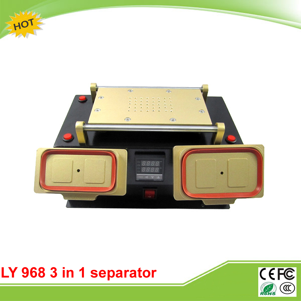 LY 968 3 in 1 multifunction preheater + bezel middle frame LCD separator machine with 300w vacuum separator  3 in 1 multifunction preheater station middle bezel frame separator machine vacuum screen separator machine