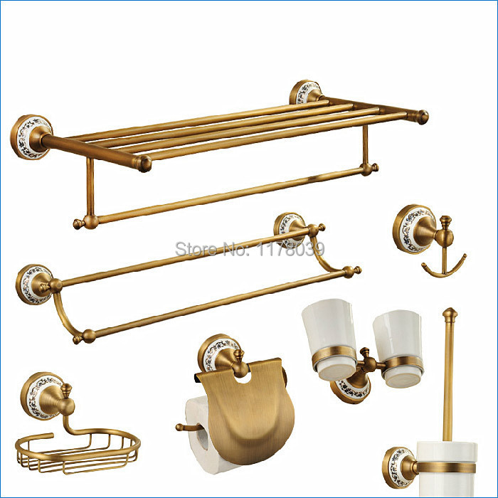 Europe Style Oil Rubbed Bronze Bathroom Hardware,Luxury Antique Brass Bathroom Accessories,Free