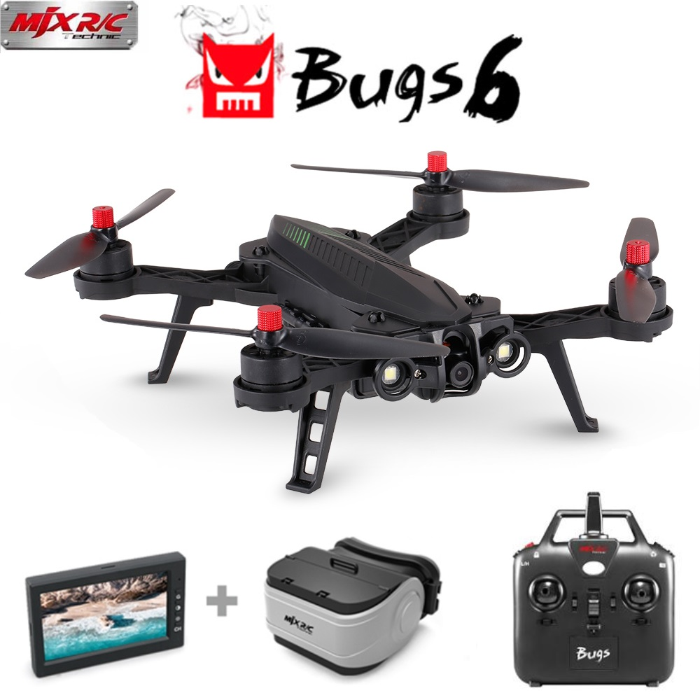 MJX Bugs 6 B6 Brushless Drone Remote Control 2.4G 6-Axis Professional Racing Drone with Camera 720P HD 5.8G FPV RC Quadcopter 4 pcs mjx b6 bugs 6 rc quadcopter spare parts 2cw 2ccw propeller fpv racing camera drone accessories blades