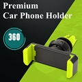 360 Rotating Universal Car Mobile phone Holder Air vent for Iphone 5 5s 6 6s plus Galaxy S5 S6 S7 Stand Mount Holder