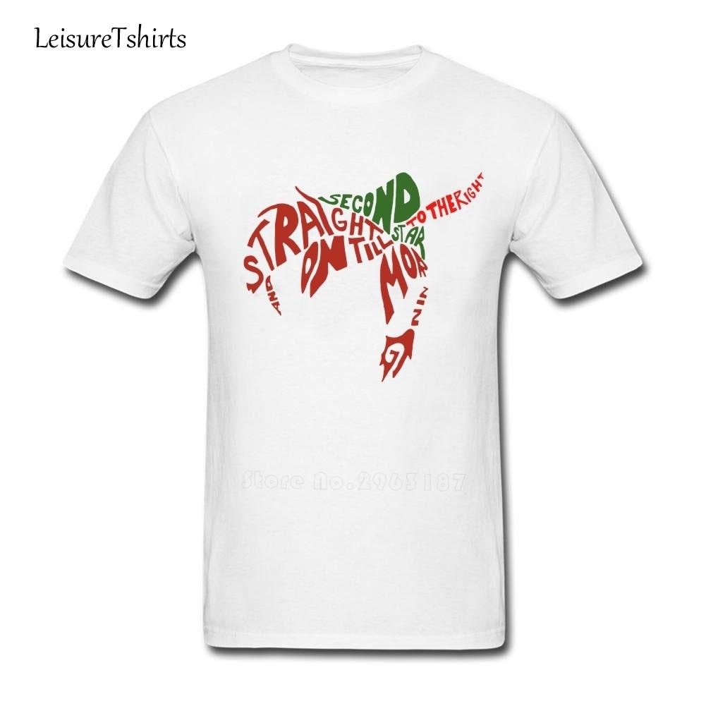 Peter Pan T Shirt Men Short Sleeve 100% Cotton Team Tee Adult Latest Big Tshirt Leisure High Quality Loose Teenboys Camisetas