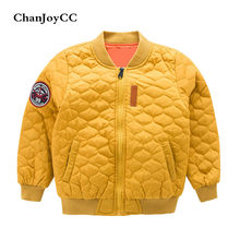 ChanJoyCC Winter Hot Sale Children's Coat Baby Boys Long Sleeve Fashion Thickening Warm Short Jacket Outerwear For Kids