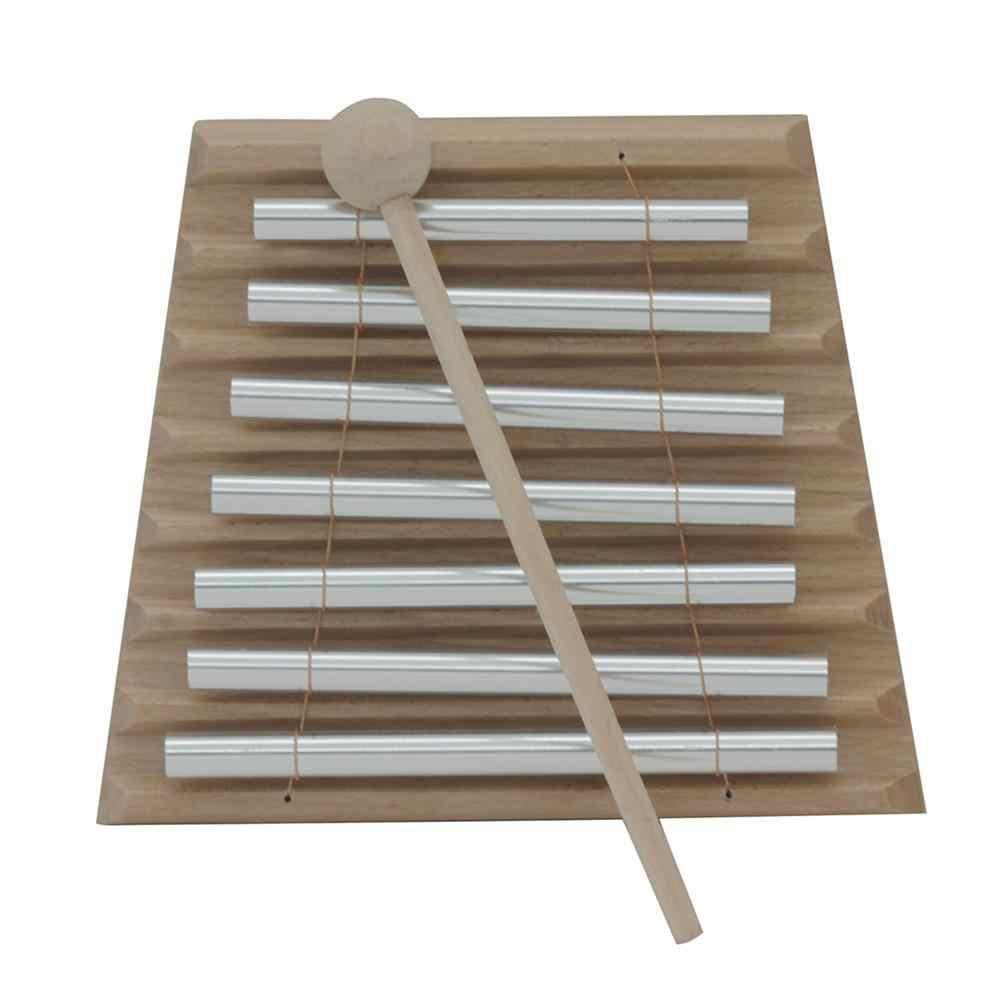 Seven Tone ลมระนาดเคาะ Bell Chimes เปียโน Stick เตือนเครื่องดนตรีสำหรับเด็กเด็กของขวัญดนตรี