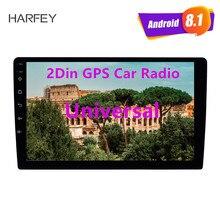 Harfey Универсальный 2Din 9 дюймов Авторадио Android 8,1 gps Автомобильный мультимедийный плеер HD 1024*600 поддержка зеркального соединения SWC DVR камера заднего вида