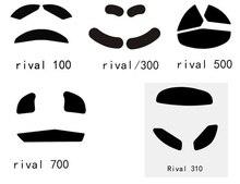 """1 סט SteelSeries יריבה 100 300 ריב""""ל 500 ריב""""ל 700 ריב""""ל 310 קאנה kinzu גלם טפלון עכבר רגליים רגליים גלגיליות gaiming עכבר 0.6mm"""