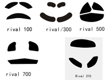 Steelseries rival 100 300 rival 500 rival 700, kana kinzu raw teflon mouse pés pernas, mouse, pé gaiming mouse 0.6mm