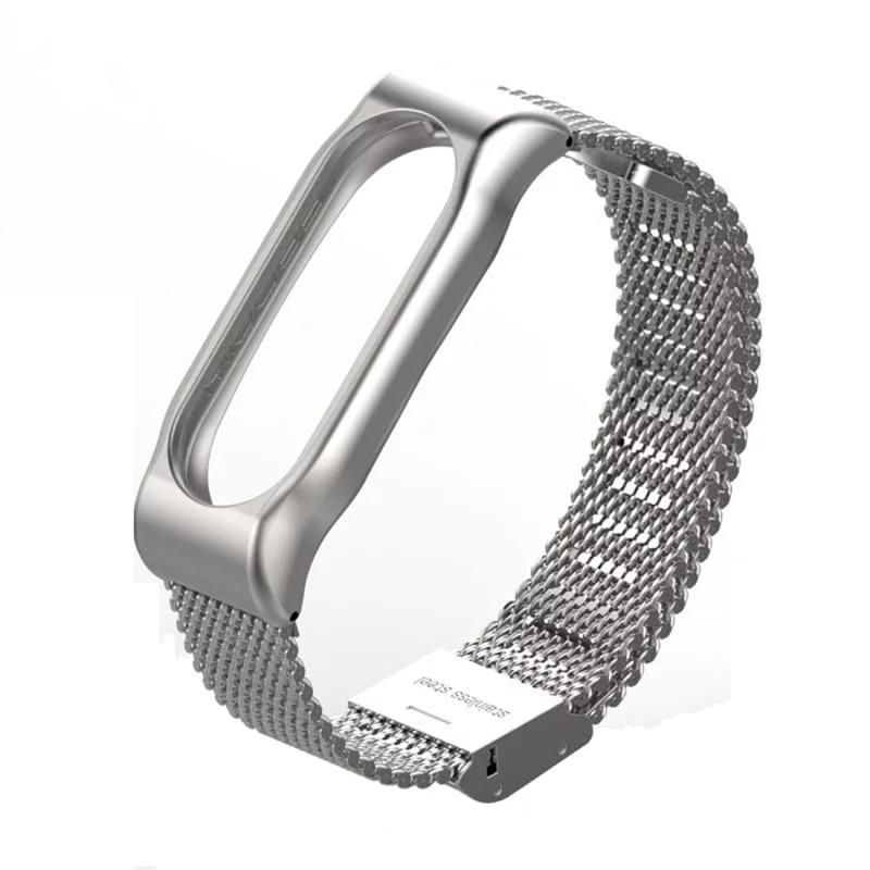 xiaomi mi band 2 strap stainless steel Mijobs xiaomi miband 2 Metal Strap Bracelet Screwless Magnetic Wristband Replace