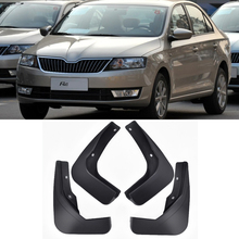 Car Front Rear Mudguards For 2012-2017 2015 Skoda Rapid Mudflaps Accessories Splash Guard Car-styling Fenders 1Set Mud Flaps