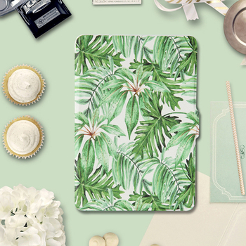 For Amazon Kindle Paperwhite Case 1/2/3 Green Leaves Leather Auto Sleep Wake up 6 inch eReader Cover for Kindle Paperwhite Capa чехол amazon kindle leather cover oliver green