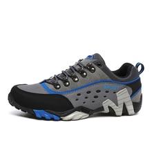Mens Waterproof Hiking Shoes Male Mountain Climbing Trekking Shoes Outdoor Sport walking shoes for women hiking Sneakers