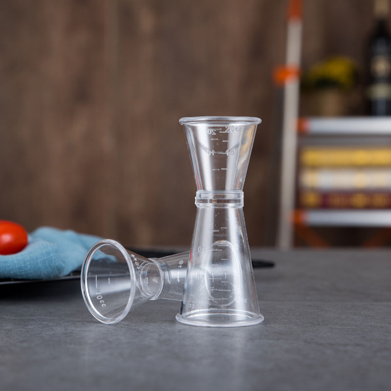40CC 20CC Cocktail Drink Mixer Measuring Cup Jigger Measurer Set Bar Tools Wine Pourers Plastic PC Free Shipping ZA5960