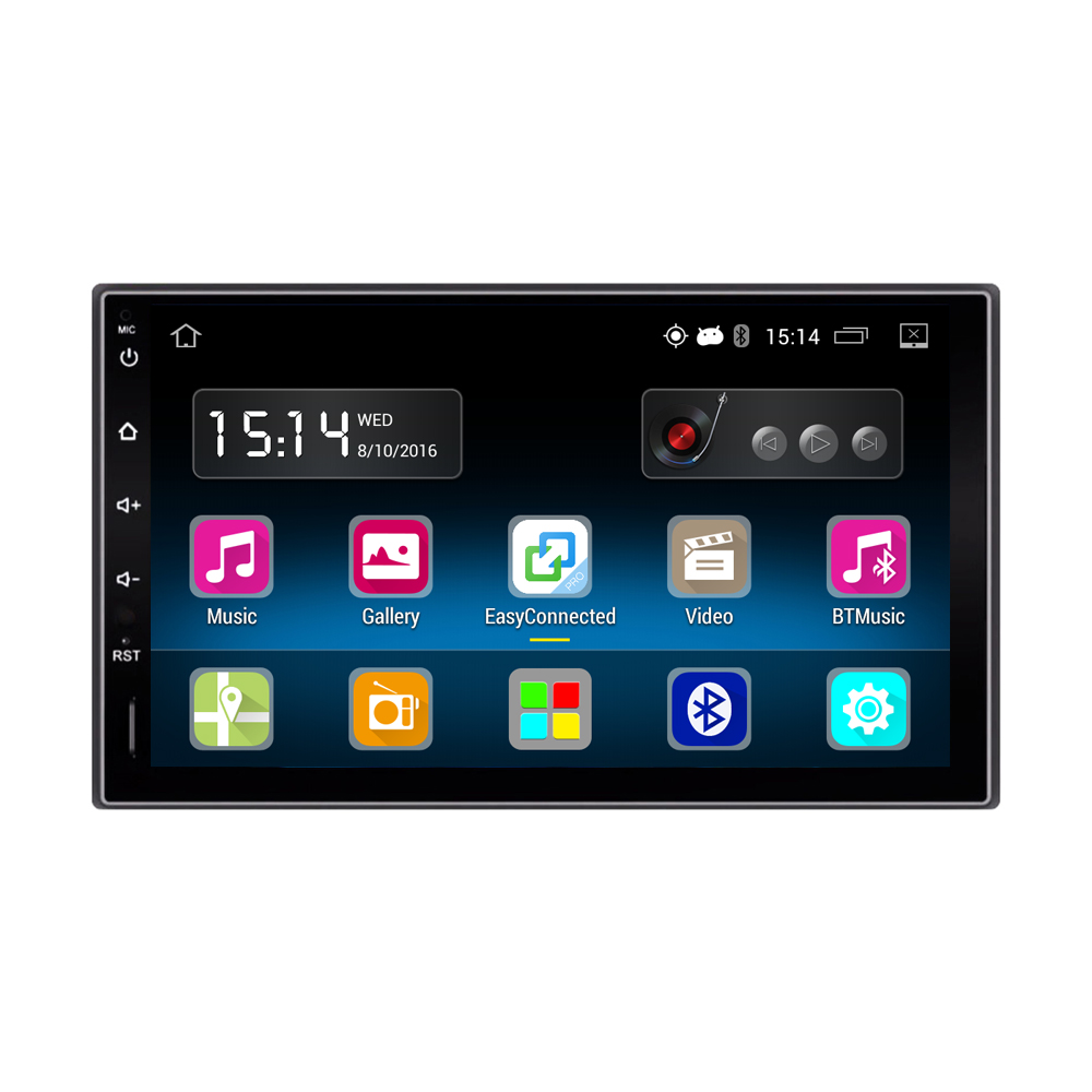 2 din android 5 1 car radio stereo 7 capacitive touch. Black Bedroom Furniture Sets. Home Design Ideas