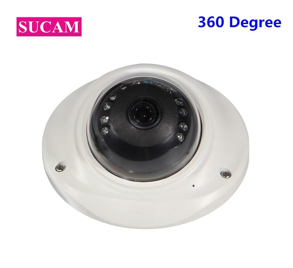 SUCAM 12 Pieces IR Leds Full HD 1080P Mini IP Security Fisheye Camera Metal ONVIF P2P