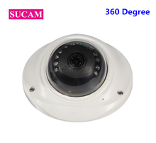 SUCAM 12 Pieces IR Leds Full HD 1080P Mini IP Security Fisheye Camera Metal ONVIF P2P Night Vision Camera 360 Degree Panoramic