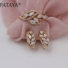 Rings-Sets Rose-Gold Luxury Jewelry Horse-Eye Natural-Zircon Dangle New Fashion PATAYA