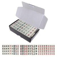 Portable Mahjong Set Chinese Antique Mini Mahjong Games Home Games Mini Mahjong