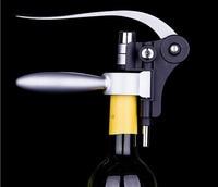 1 UNID Conejo Negro de Acero Inoxidable de Alta Calidad Del Vino Rojo del Abrelatas Herramienta Kit Bottle Cork Tire Sacacorchos Collar Vertedor Gift Set OK 0377