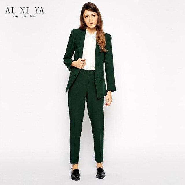 Señoras de moda traje señoras turquesa formal Pantalones de traje ...