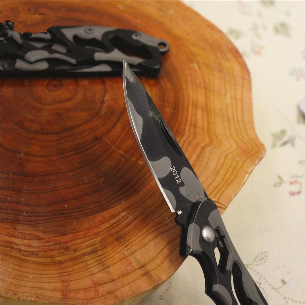 Zseb-összecsukható késkés, Camouflage Camping Survival kés, hordozható vadászati taktikai kés szabadtéri sportháztartási gyümölcshez