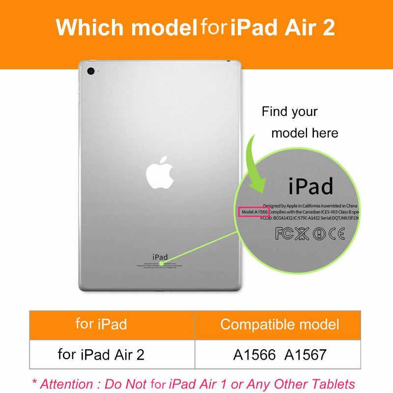 Voor iPad Air 2/Air 1 Smart Case Smart Stand Ultra Dunne PU Lederen Cover Hard Plastic Case Voor iPad 5/6 Auto Sleep/Wake up