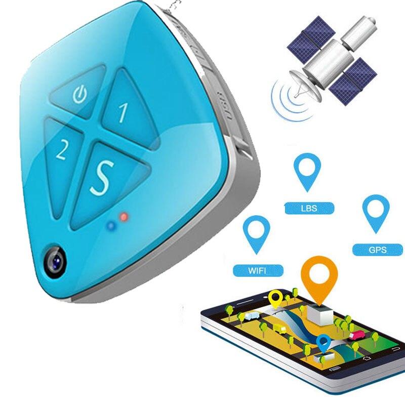 3G GPS Tracker étanche en temps réel LBS Position à vie suivi gratuit alarme de chute SOS avec caméra