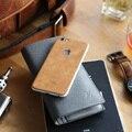 Bolsa em couro genuíno luxo completa voltar adesivo de pele para a apple iphone 6 s/6 mais alta qualidade para o iphone 7/7 plus decalque durável protetor
