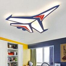 Lámpara de techo de avión de dibujos animados moderna, LED para habitación de bebé de Chico, luces de techo para dormitorio, accesorios de iluminación montados en superficie para el hogar