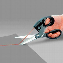 Обновление Professional лазерные ножницы режет прямой Быстрый лазерный ориентированный ножницы для ткани ремесла швейный инструмент