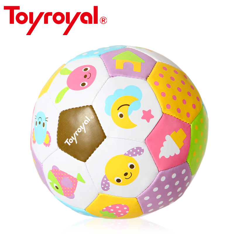 Toyroyal Stuffed Baby <font><b>Ball</b></font> Rattle Toddlers Soft Soccer Ring Bell Sensory Toy <font><b>Ball</b></font> for Baby 0-12 Month Children Game Gift Leather