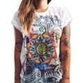 New Fashion Women Painting Tops 2017 Summer Short Sleeve O-Neck Women Shirts Casual White Cotton Loose T Shirt Plus Size XXXL