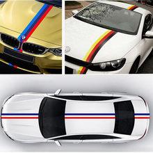 Pegatina de coche BMWColored, Adhesivo de bandera nacional de Alemania, Italia, Rusia, para BMW M3, M5, M6, E46, E92, 10M